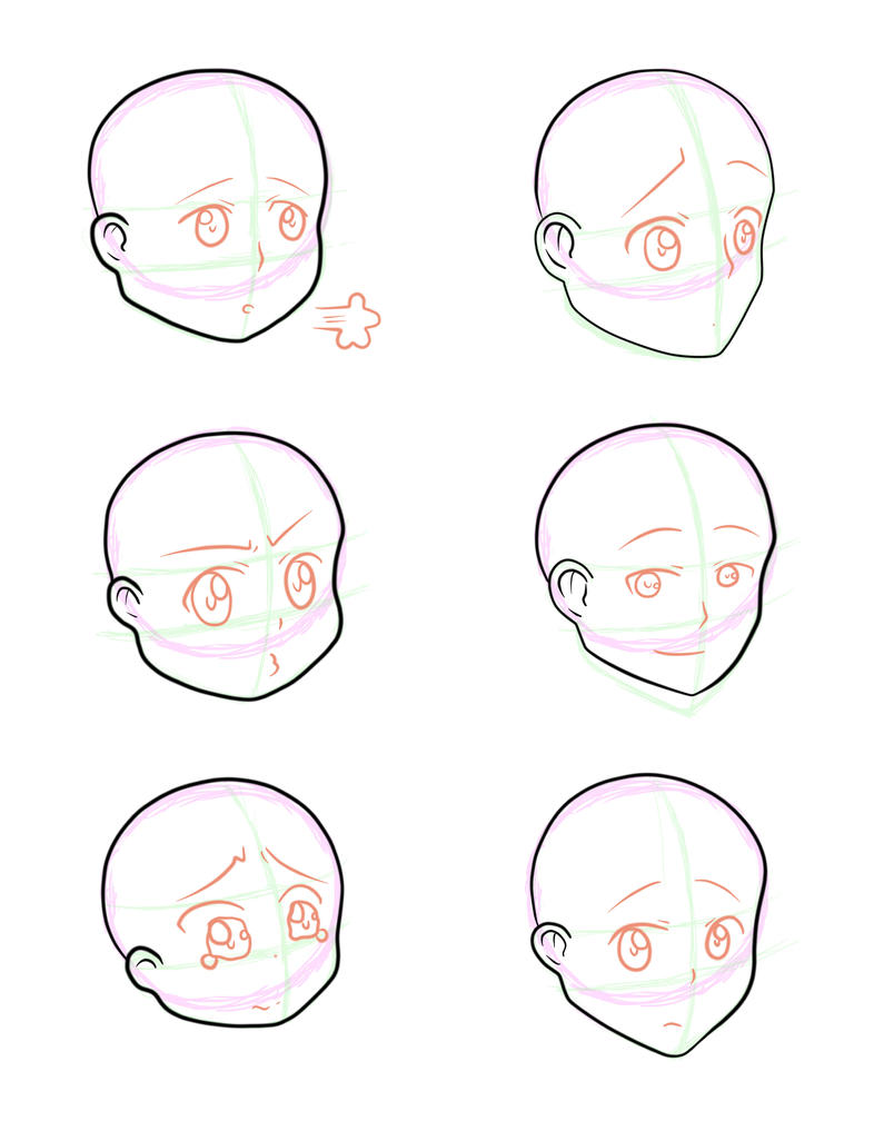 Head Shapes by N1NJ45K1ll5 on DeviantArt