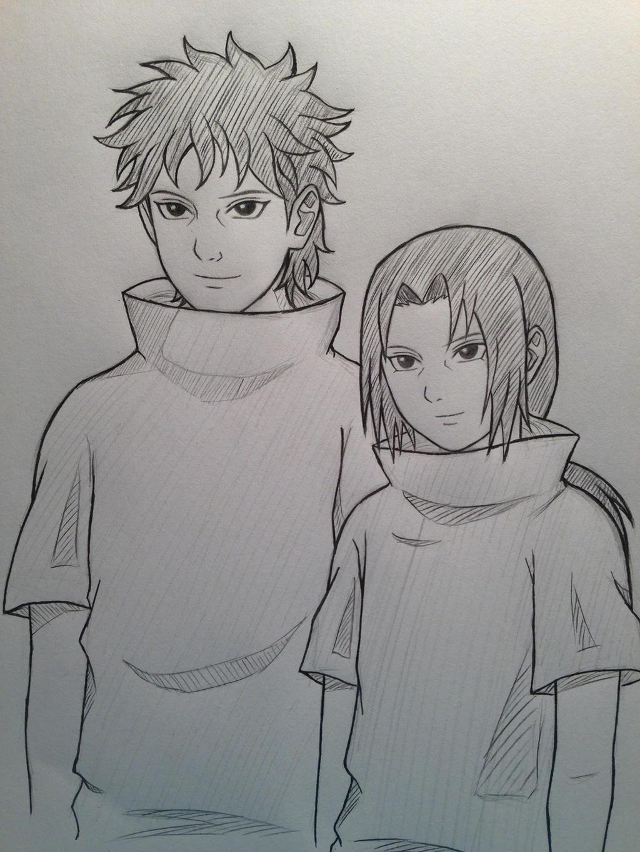 Shisui and Itachi by JainaNaberrieShisui Uchiha And Itachi