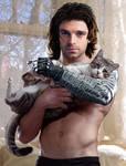 Bucky Barnes and Cat