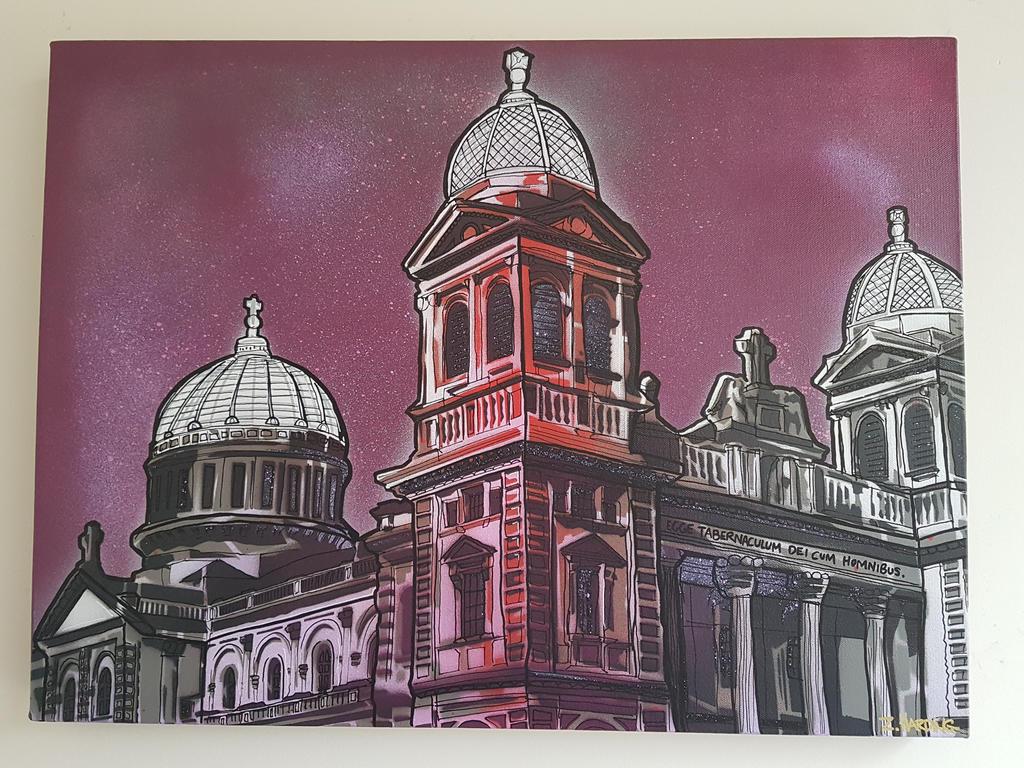 Basilica in Purple by OpserStencils