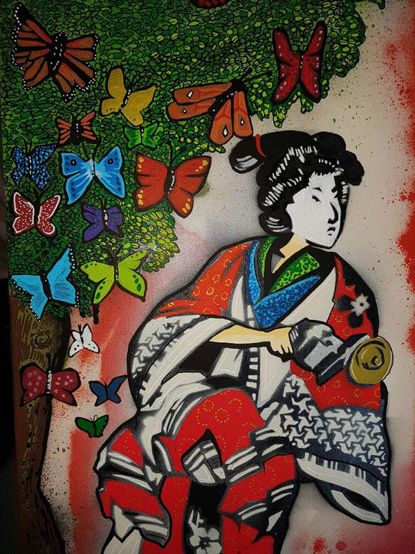 Technicolor Geisha by OpserStencils