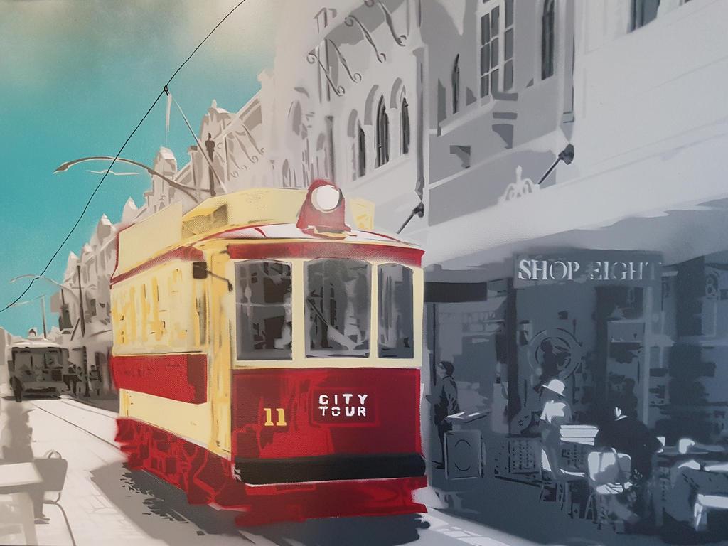 Tram on New Regent Street  by OpserStencils