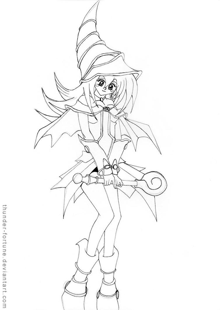 dark magician girl coloring pages - photo#33
