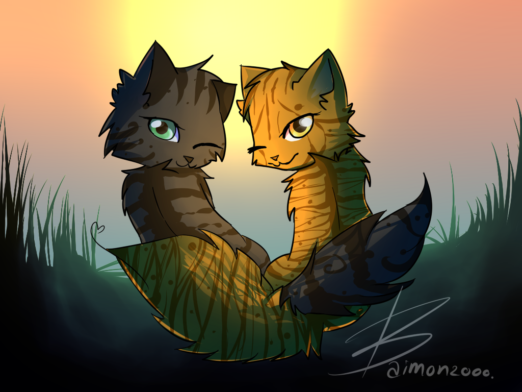 Warrior Cats Mothwing And Willowshine Mothwing and Willowshi...