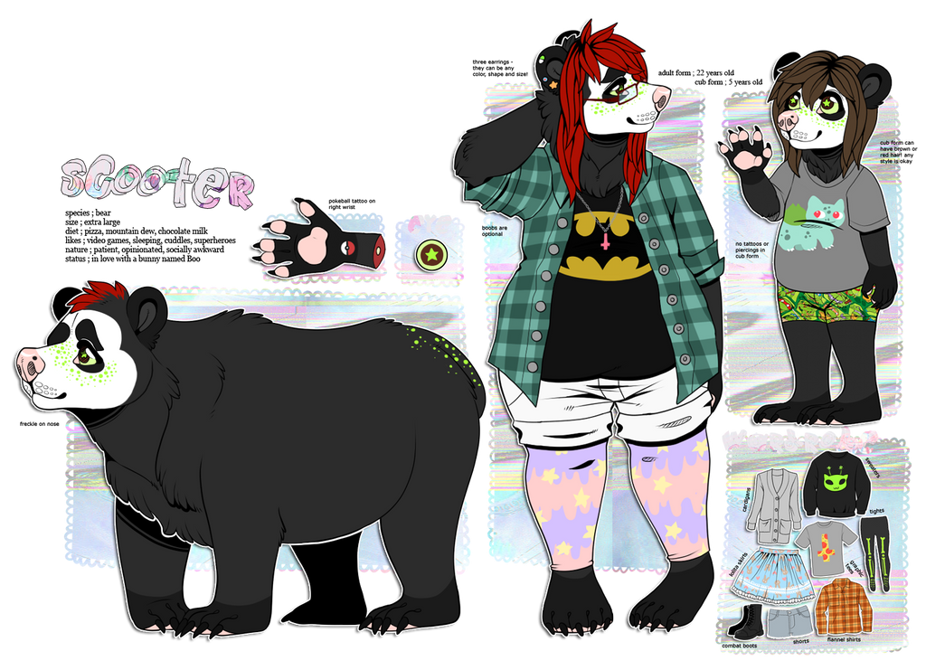 FURSONA REFERENCE 2014 by kaijuparty
