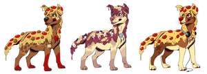 pizza dog batch {2} by kaijuparty