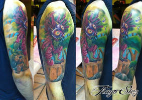 Zelda Skull Kid Majoras Mask Tattoo by cristianolourenco