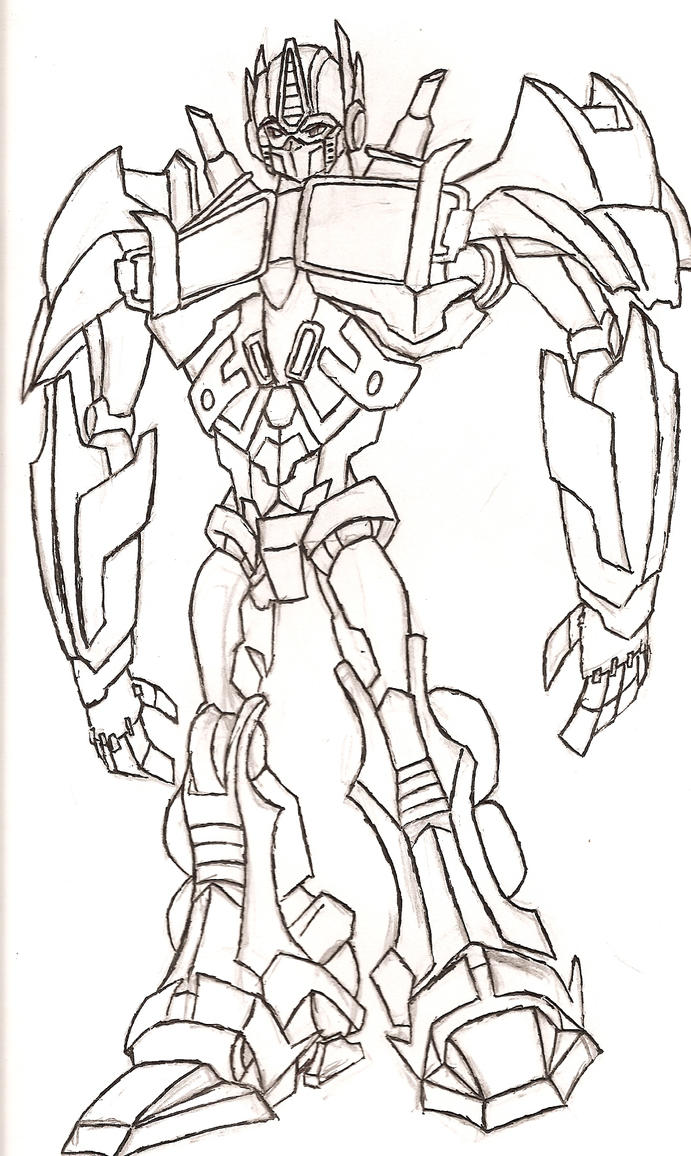 Optimus Prime Sketch by NeonNeoz