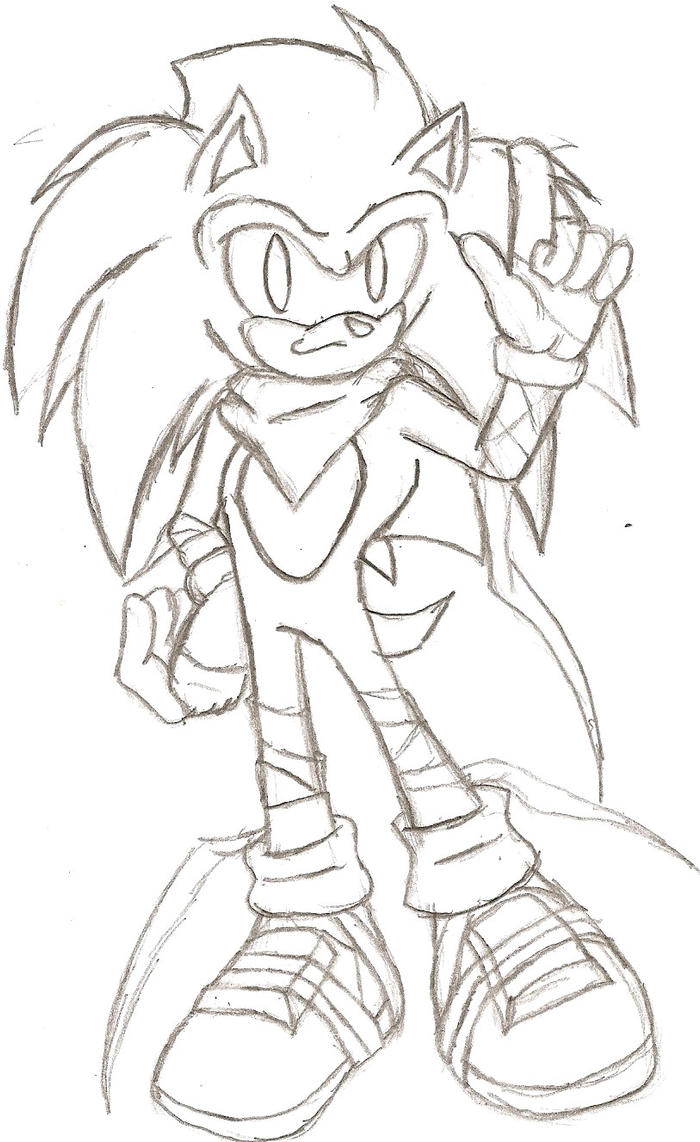 Sonic BOOM (Sketch) by NeonNeoz