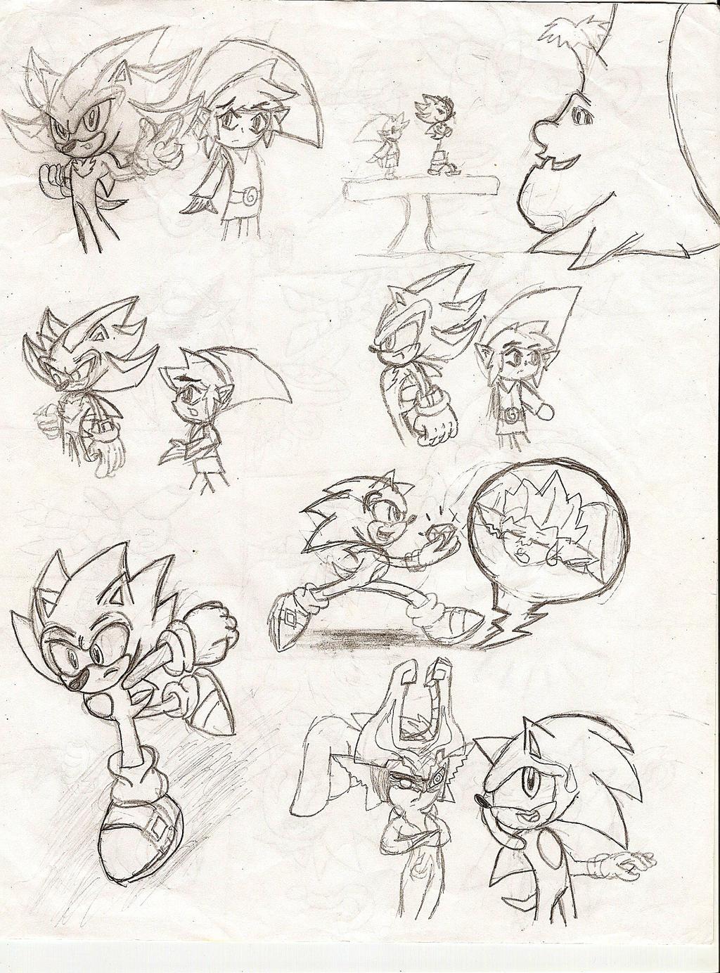 Old Art Sketch PART 2!!! by NeonNeoz