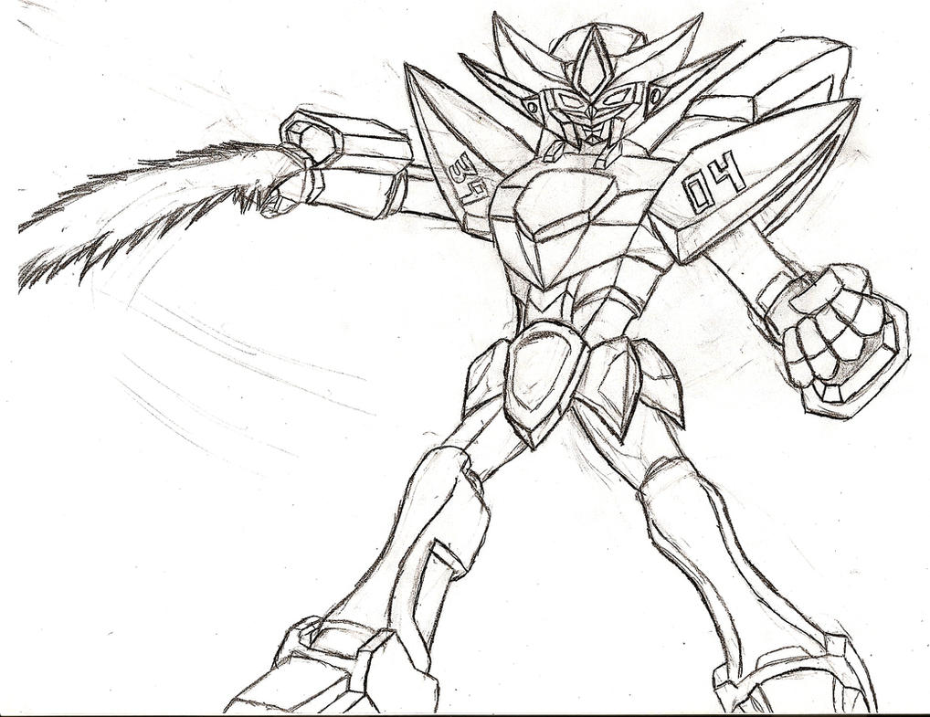 Gundam Unit 3904: Mech Ryu by NeonNeoz