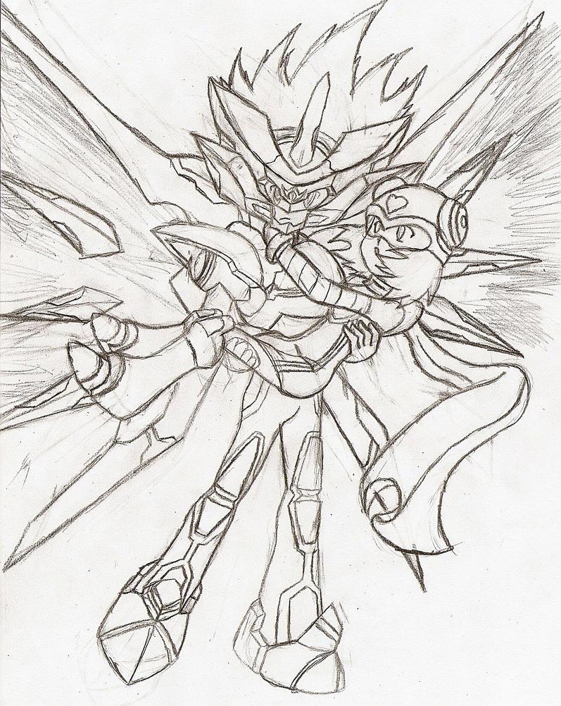 Megaman Black Ace: Hero by NeonNeoz