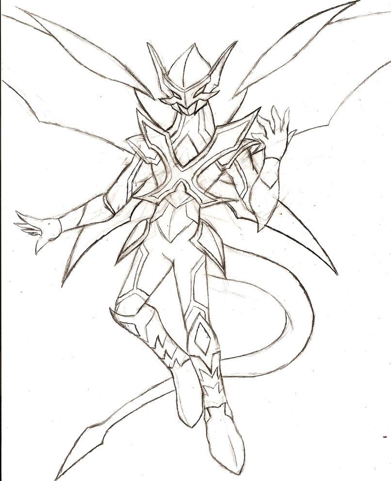 Temporalsage X: Temporal Drago (sketch) by NeonNeoz