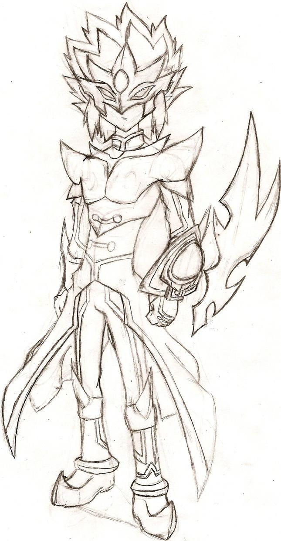 The Dark Side of EVIL: Academia's Slifer Hunter by NeonNeoz