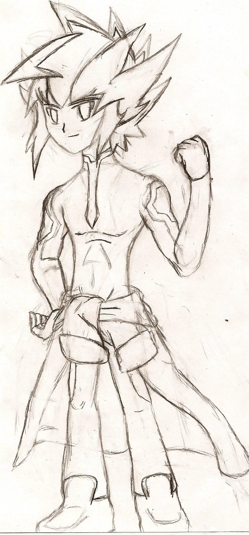 ZEXAL Oc: Mikazuki Kouki (sketch) by NeonNeoz