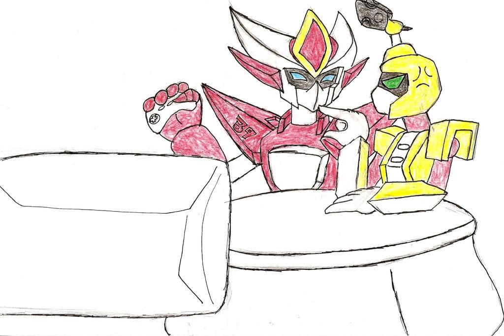 Rqst 4: Ryu Vs. Metabee by NeonNeoz
