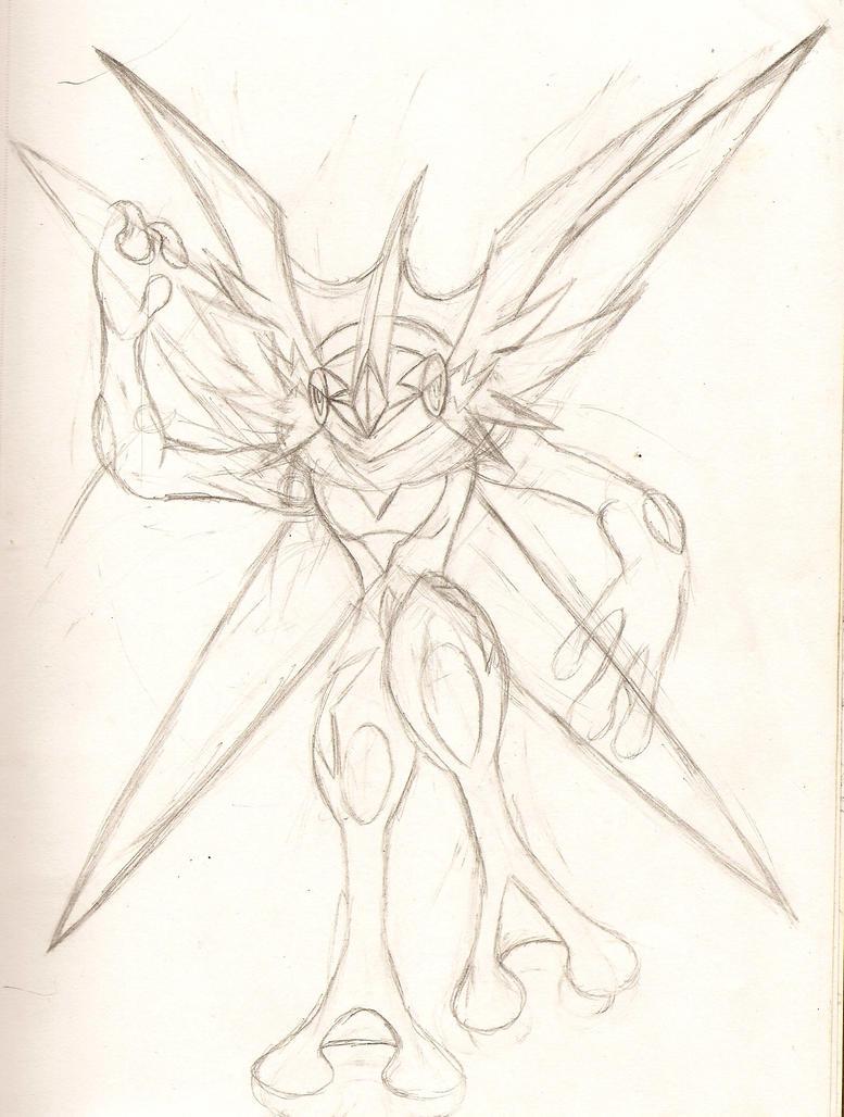 Ash-Greninja (Sketch) by NeonNeoz