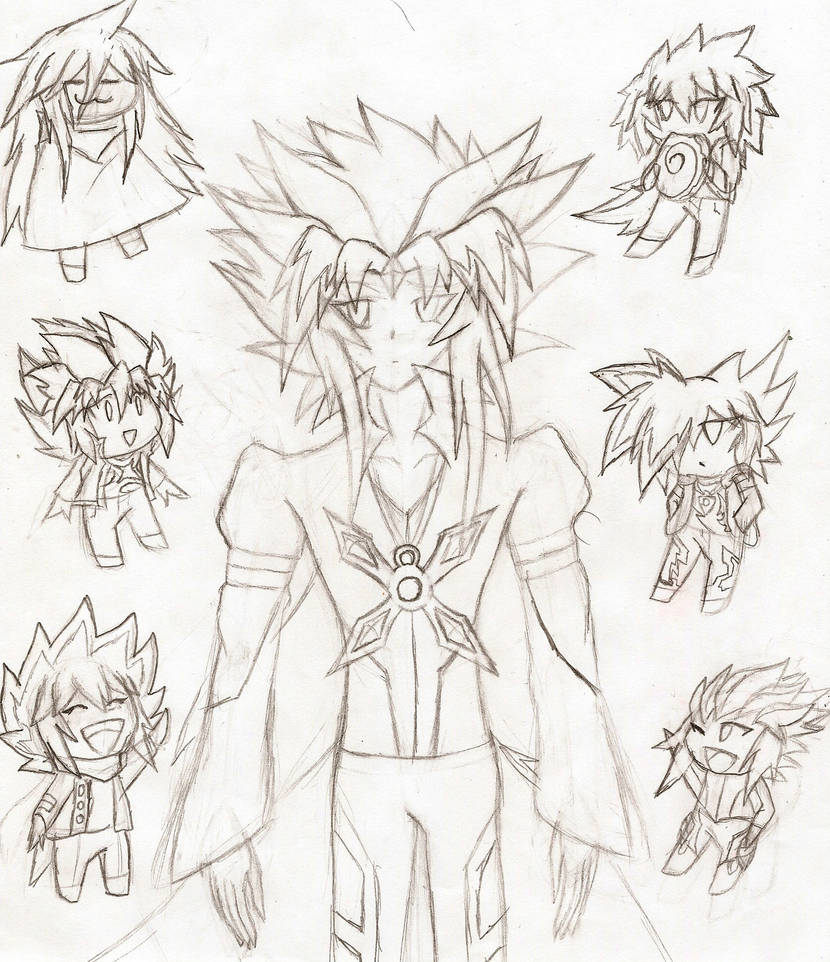 Arc-V OC: Papa Kazuto, and His 6 Sons by NeonNeoz