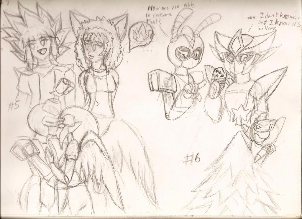 X-mas Doodles: 5-8 by NeonNeoz
