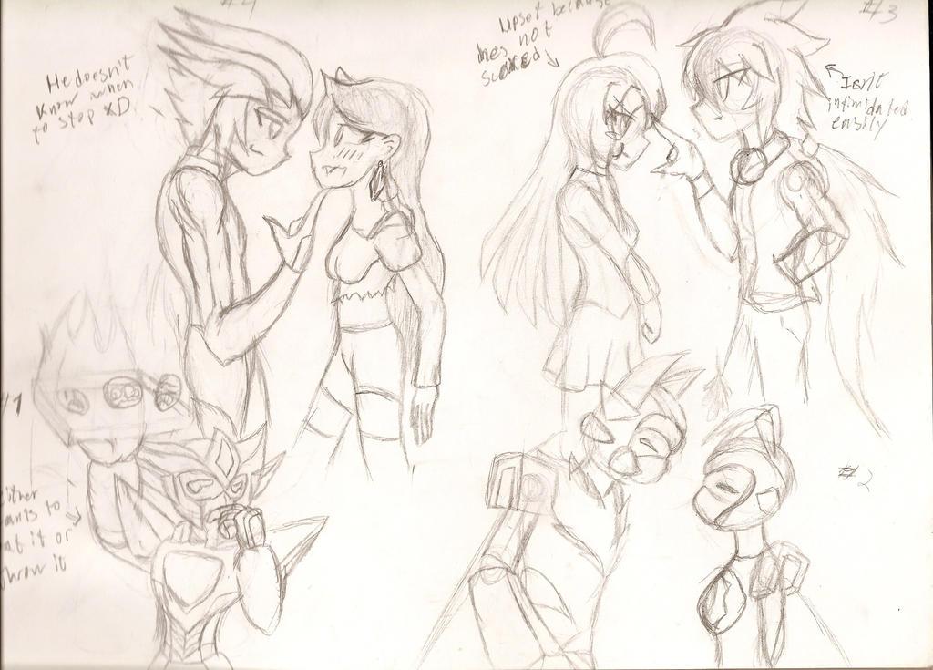 X-Mas Doodles: 1-4 by NeonNeoz