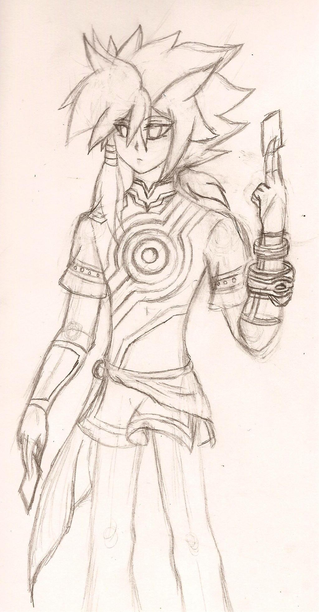 Yugioh Oc: Yasuhiro Tsuneo (Sketch) by NeonNeoz