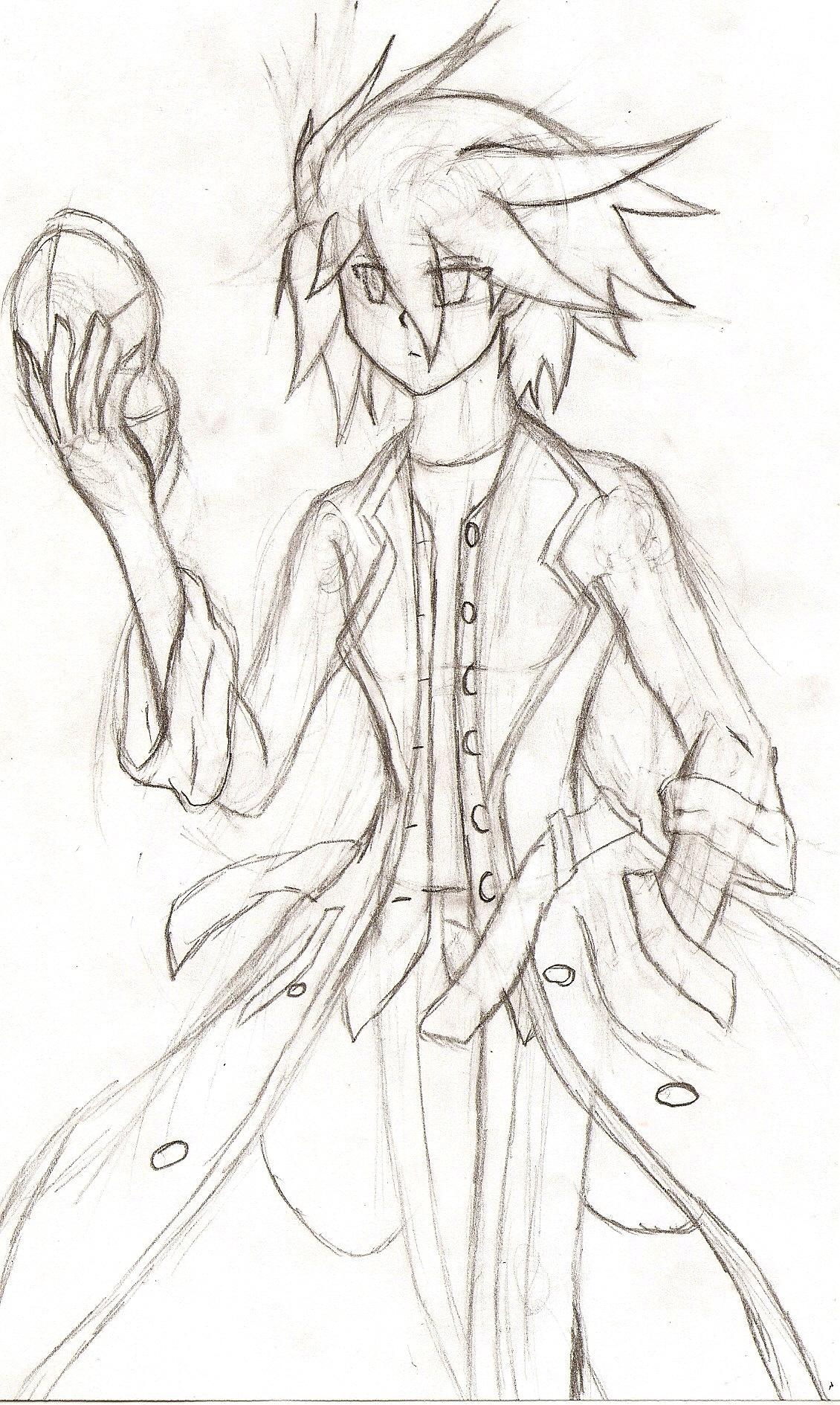 Yugioh 5ds OC: Akatsuki `Azure` Akuma (sketch) by NeonNeoz