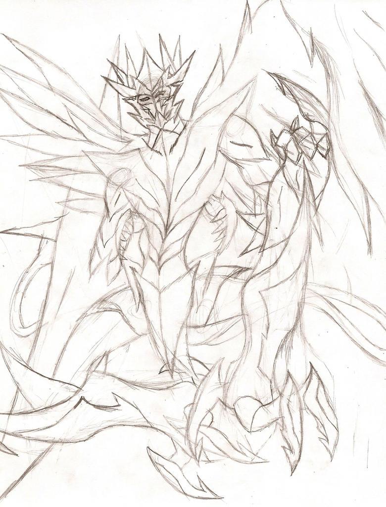 Owari no Seraph OC: Monstrous Horsemen Demon by NeonNeoz