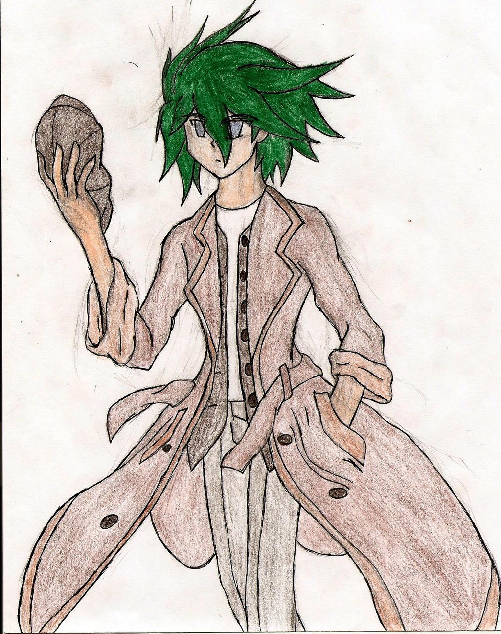 Yugioh 5ds OC: Akatsuki `Azure` Akuma (colored) by NeonNeoz