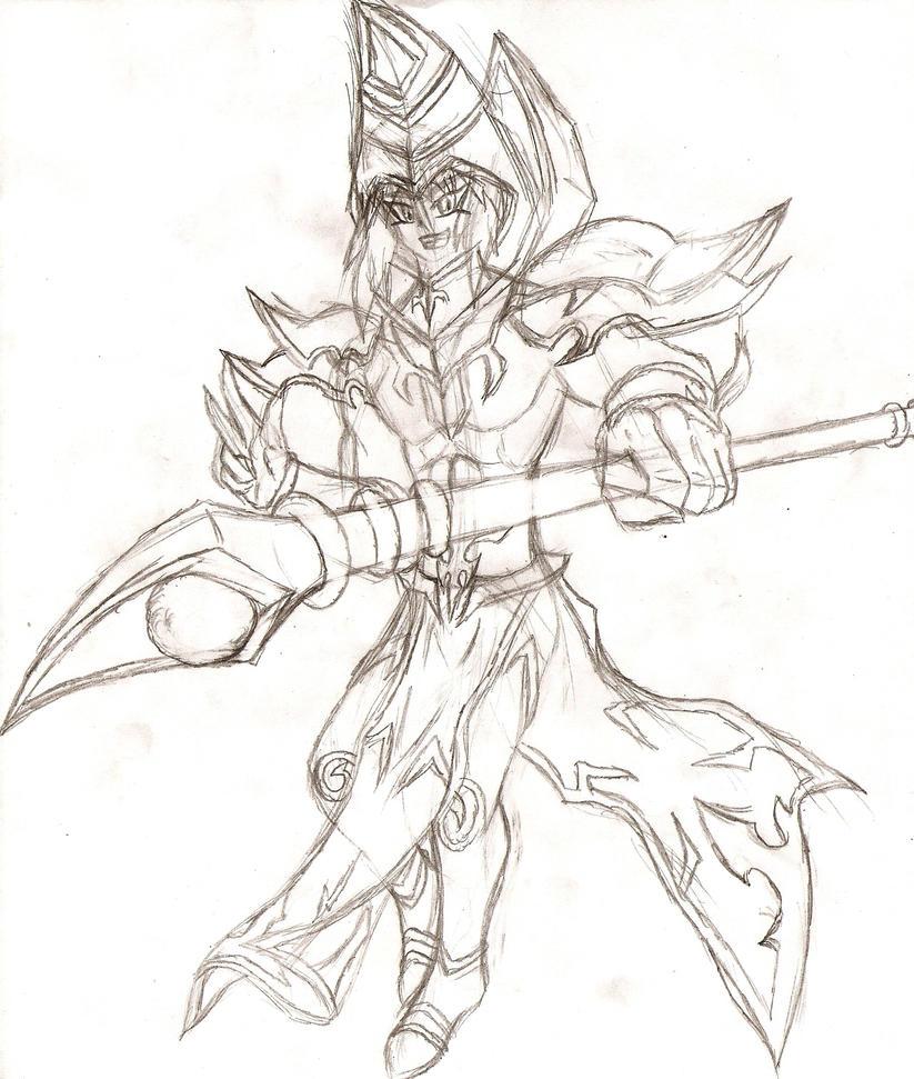 Dark Magician Yukio by NeonNeoz