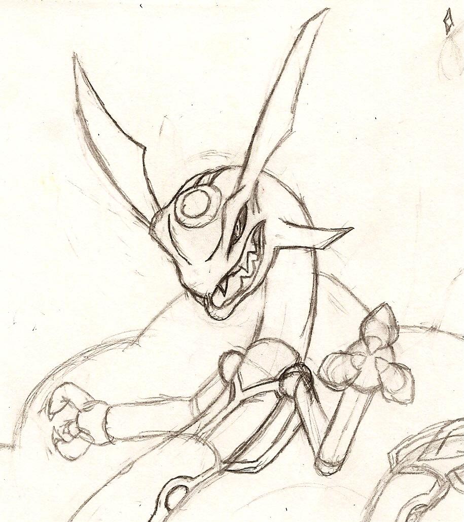 Rayquaza Sketch by NeonNeoz