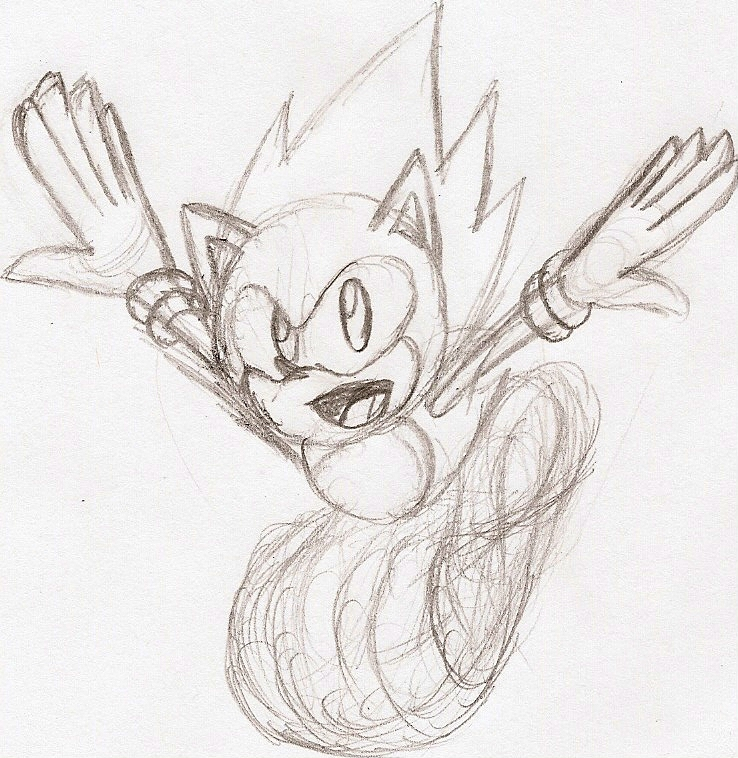 Classic Sonic Sketch by NeonNeoz