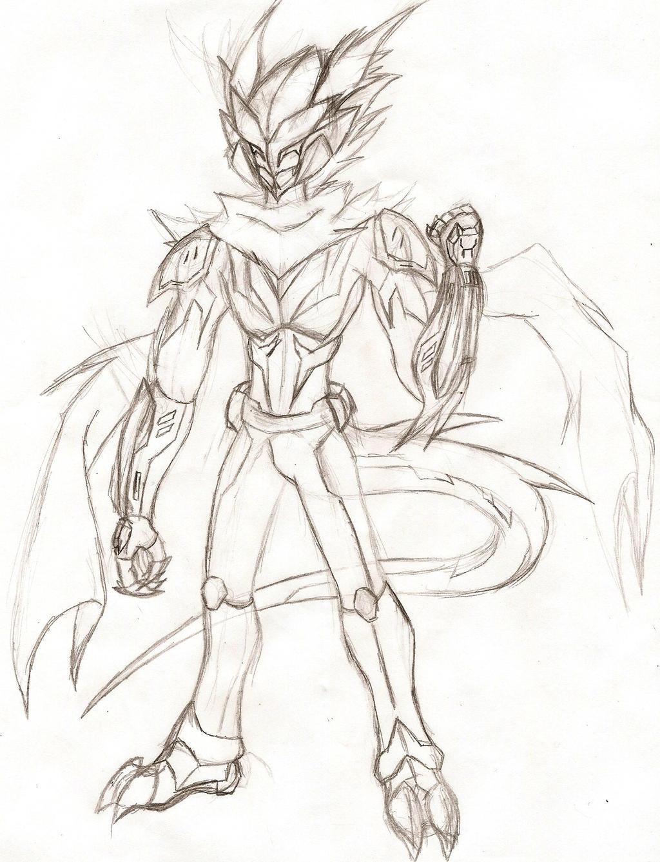 BNHA OC: Cosmic War-Dragon by NeonNeoz