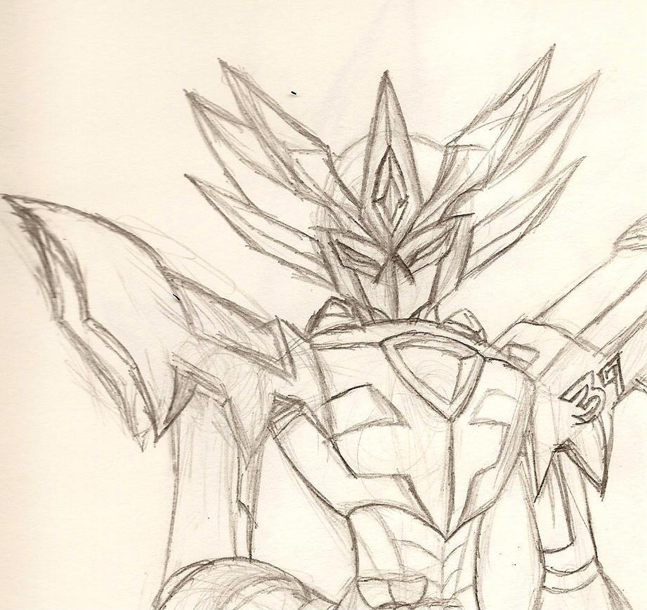 Medabot Oc: Ryu 2.0 (sketch) by NeonNeoz