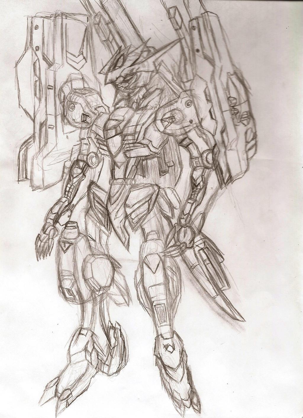 Custom Gundam: Barbatos Armada Drake by NeonNeoz