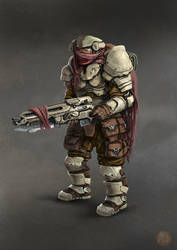 Sci Fi nomad soldier