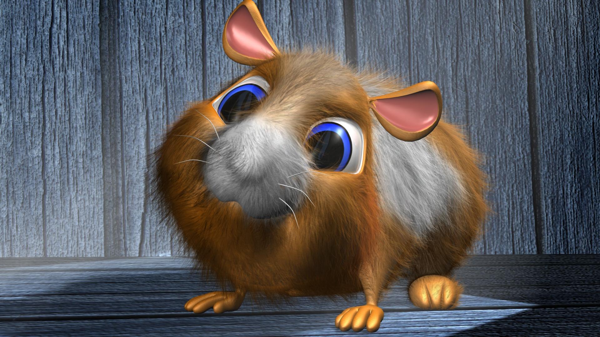 Cartoon Hamster 3D by 3DSud