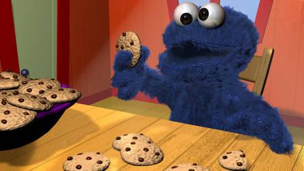 Cookie Monster 3d