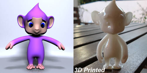 Cartoon Character 3D printed by 3DSud