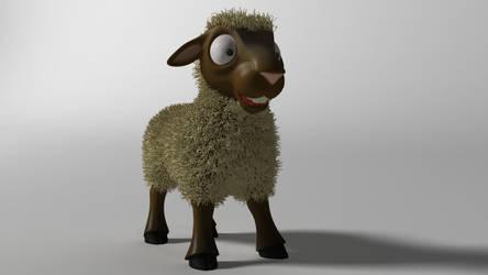 Cartoon Sheep 3D model by 3DSud