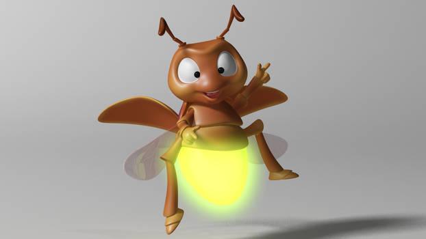 cartoon Firefly 3D Model