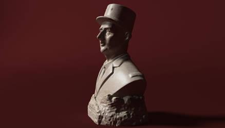 De Gaulle Bust 3D Model by 3DSud