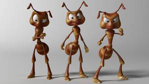 Cartoon ant 3d model