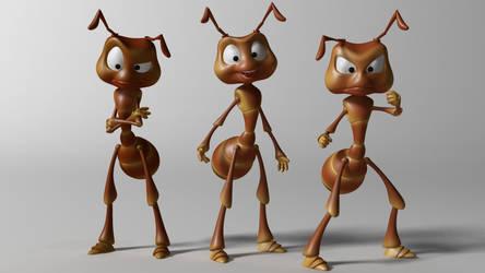 Cartoon ant 3d model by 3DSud