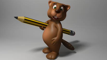 Cartoon Beaver 3D by 3DSud