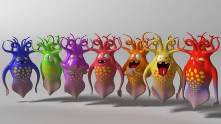 Squid Squad by 3DSud