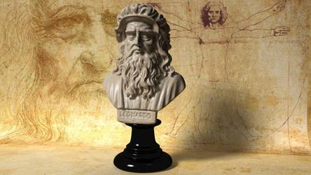 Leonardo Da Vinci Bust 3D model by 3DSud