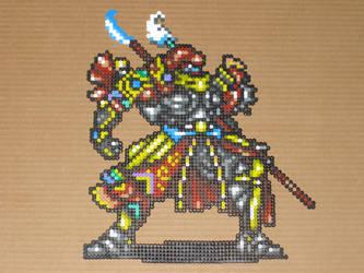 FFV Gilgamesh bead-sprite 01 by zaghrenaut