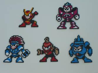 Megaman bead bosses 11 by zaghrenaut