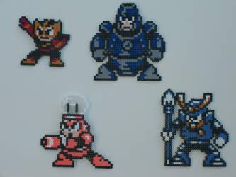 Megaman bead bosses 12 by zaghrenaut