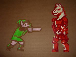 Link and Mazura bead battle